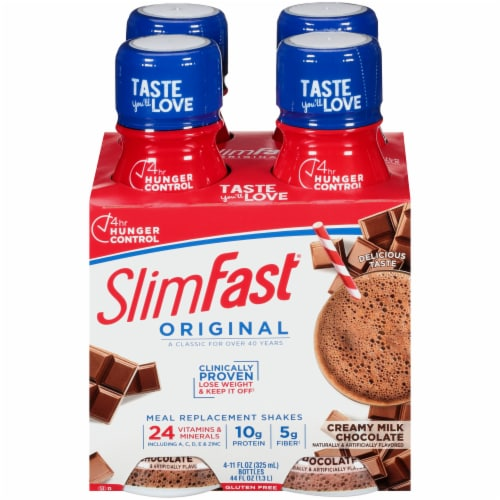 SlimFast Original Creamy Milk Chocolate Ready To Drink Meal Replacement Shakes Perspective: front