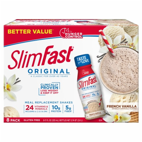 SlimFast Original French Vanilla Meal Replacement Shakes Perspective: front
