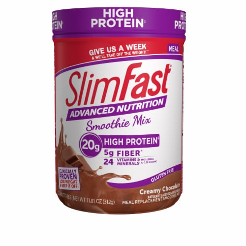 SlimFast Advanced Nutrition High Protein Creamy Chocolate Smoothie Mix Perspective: front