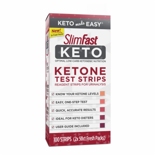 SlimFast Keto Ketone Test Strips Perspective: front