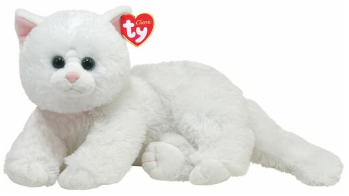 Ty Classic Plush Cat - Crystal Perspective: front