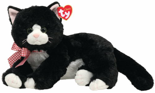 Ty Classic Shadow Plush Cat - Black/White Perspective: front