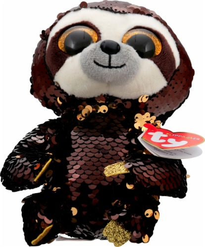 Ty Dangler the Sloth Flippables Beanie Boo Perspective: front