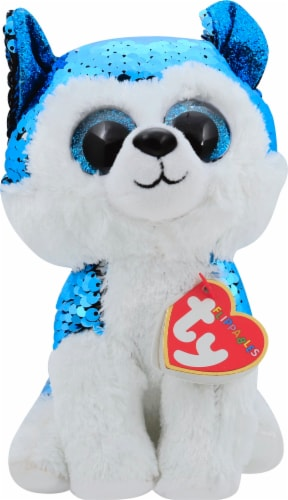 Ty Slush the Husky Flippables Beanie Boo Perspective: front