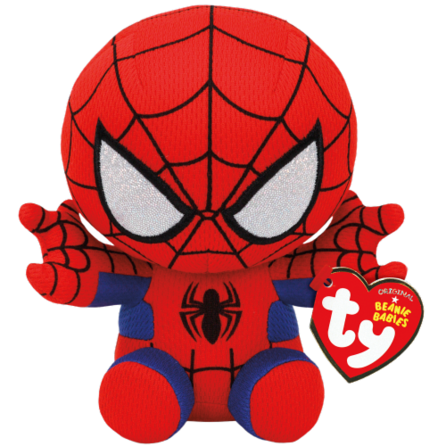 TY Beanie Babies Marvel Original Spiderman - Red/Blue Perspective: front