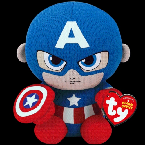 TY Beanie Babies Marvel Original Captain America - Red/Blue Perspective: front