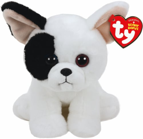 Ty Beanie Babies Marcel Plush Dog - White/Black Perspective: front