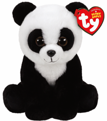 Ty Beanie Babies Baboo Plush Panda Perspective: front