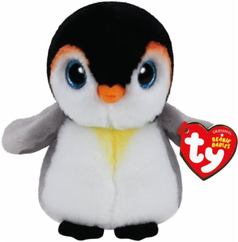 Ty Beanie Babies Pongo Plush Penguin - White/Black/Gray Perspective: front