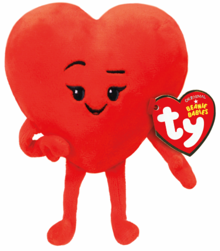 Ty Beanie Babies Heart Plush Emoji - Red Perspective: front