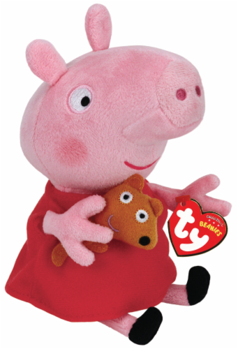 Ty Beanies Peppa Pig Plush - Pink/Red Perspective: front