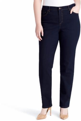 Gloria Vanderbilt Amanda Women's Plus Classic Jeans - Rinse Noir Wash - 16X - 60177981-P88 Perspective: front