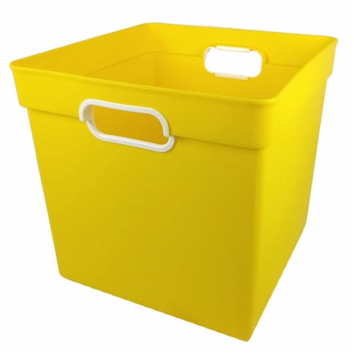Cube Bin, Yellow Perspective: front