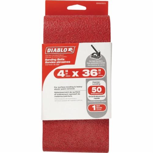 Diablo 4 In. x 36 In. 50 Grit General Purpose Sanding Belt DCB436050S01G Perspective: front