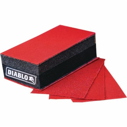 Diablo 5 In. Reusable Sanding Block Kit with/Assorted SandNet Sheets Perspective: front