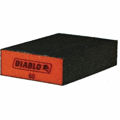 Diablo 3pk 60-Gr Sanding Sponge DFBBLOCMED03G Perspective: front