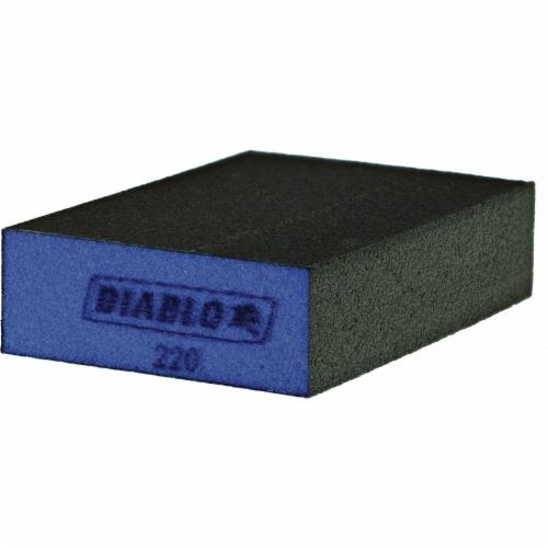 Diablo 2-1/2 In. x 4 In. x 1 In. 220 Grit (Ultra Fine) Flat Edge Sanding Sponge Perspective: front