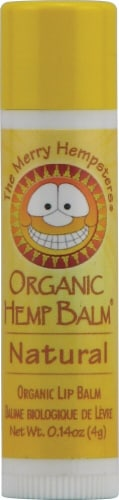 Merry Hempsters Natural Lip Balm Perspective: front