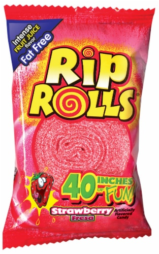 Rip Rolls Strawberry Licorice Roll Perspective: front