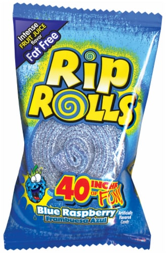 Rip Rolls Blue Raspberry Licorice Perspective: front