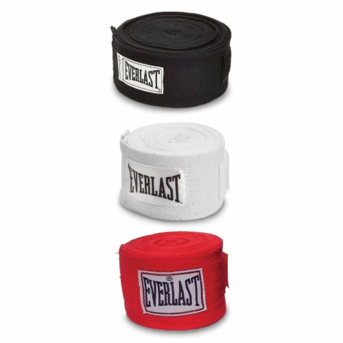 Everlast 120 Inch Polyester Cotton Boxing Sparring Training Hand Wraps (3 Pack) Perspective: front