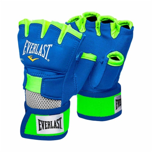 Everlast Prime EverGel Foam Padding Hand Wraps Gloves Size Extra Large, Blue Perspective: front