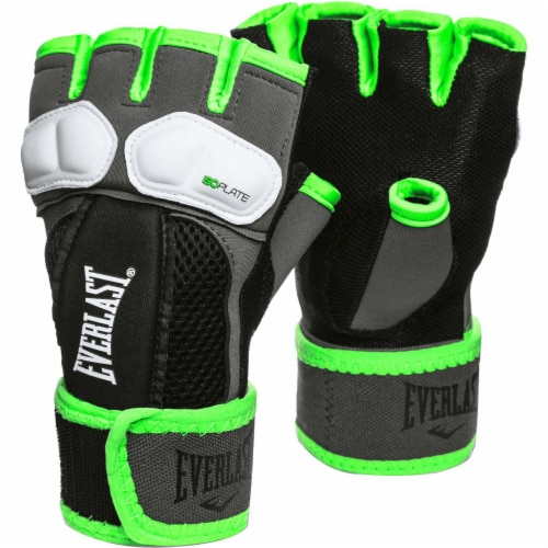 Everlast Prime Evergel Protective Boxing Hand Wrap Gloves, Green, Size Medium Perspective: front