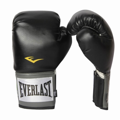 Everlast Pro Style Full Mesh Palm Training Boxing Gloves Size 8 Ounces, Black Perspective: front