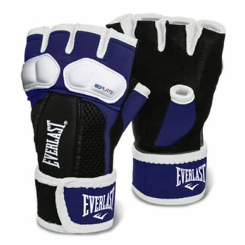 Everlast Prime EverGel Foam Padding Hand Wraps Gloves Size Medium, Navy Blue Perspective: front