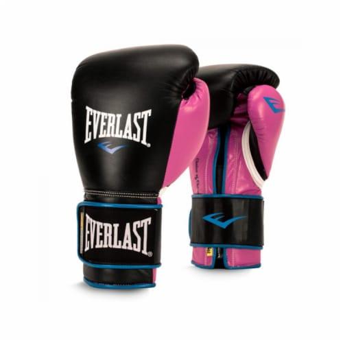 Everlast P00000745 Women's 12 Ounce Powerlock Hook & Loop Training Gloves, Pink Perspective: front