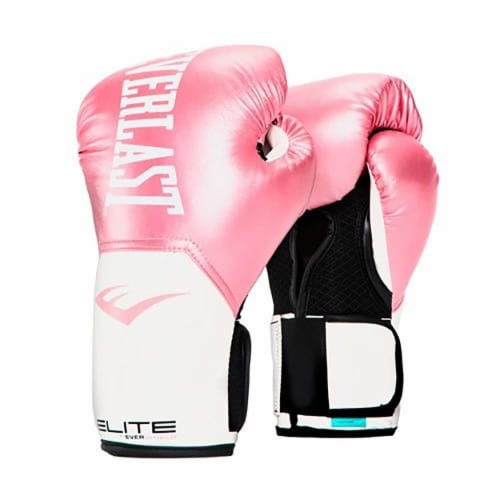 Everlast Pro Style Elite Workout Training Boxing Gloves Size 8 Ounces, Pink Perspective: front