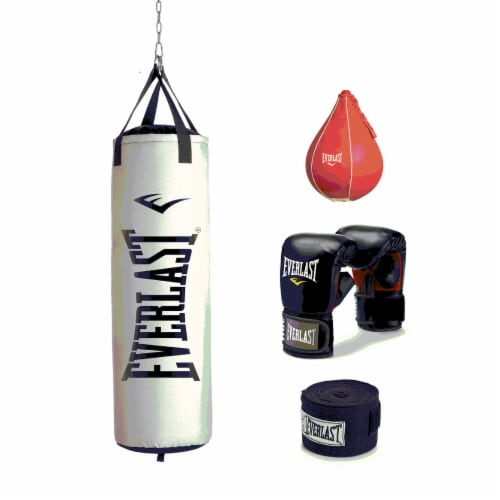 Everlast 70 LB Nevatear Heavy Bag Boxing Kit w/ Gloves, Hand Wraps, & Speed Bag Perspective: front