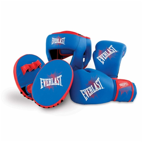 Everlast Prospect Youth Training Kit with Gloves, Headgear, and Mitts Perspective: front