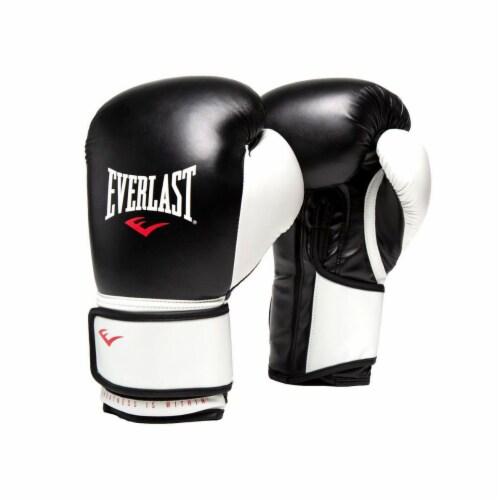 Everlast 16 Oz Pro Style Elite Cardio Kickboxing & Boxing Training Gloves, Black Perspective: front