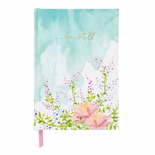 C.R. Gibson Medium Printed Bound Journal - Floral Be Still Perspective: front