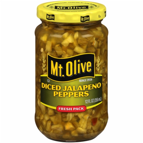 Mt. Olive Diced Jalapeno Peppers Perspective: front