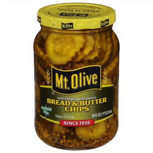 Mt. Olive Old-Fashioned Sweet Bread & Butter Pickle Chips Perspective: front