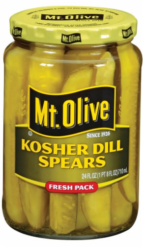 Mt. Olive Kosher Dill Spears Perspective: front