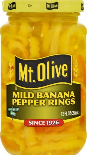 Mt. Olive Mild Banana Pepper Rings Perspective: front