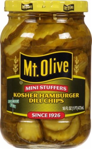 Mt. Olive Mini Stuffers Hamburger Dill Chips Perspective: front