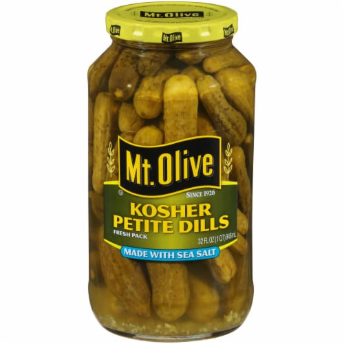 Mt. Olive Kosher Petite Dill Pickles Perspective: front