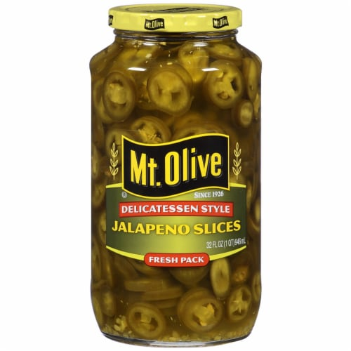 Mt. Olive Delicatessen Style Jalapeno Slices Perspective: front