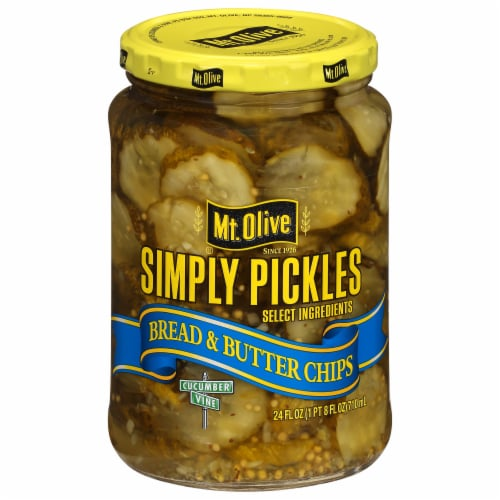 Mt. Olive Simply Pickles Bread & Butter Chips Perspective: front