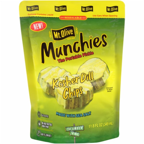 Mt. Olive Kosher Dill Pickle Chips Munchies Perspective: front