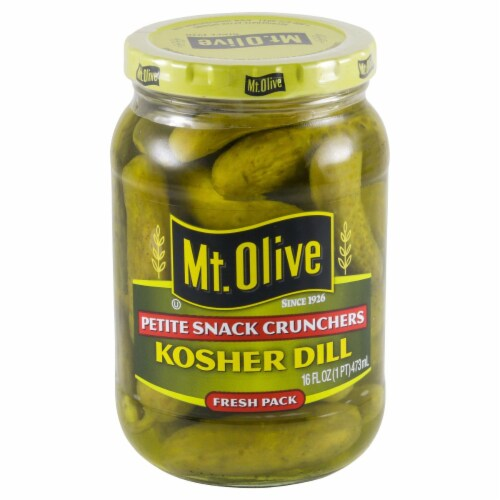Mt. Olive Petite Snack Crunches Kosher Dill Pickles Perspective: front