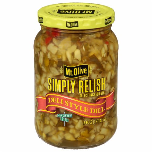 Mt. Olive Deli Style Dill Relish with Sea Salt Perspective: front