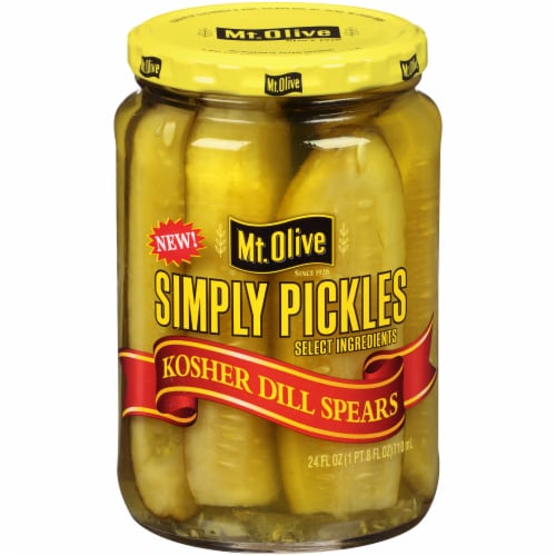 Mt. Olive Kosher Dill Pickle Spears Perspective: front