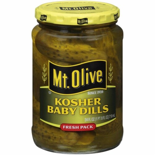 Mt. Olive Kosher Baby Dill Pickles Perspective: front