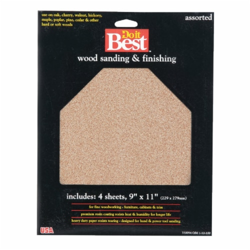 Do it Best Asst Garnet Sandpaper 330094 Perspective: front