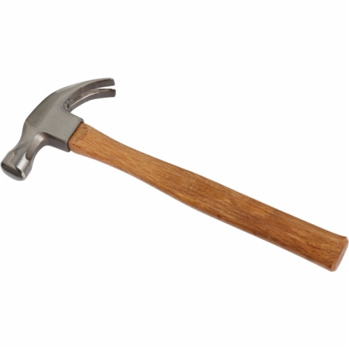 Do it 16 Oz. Smooth-Face Curved Claw Hammer with Hardwood Handle 346276 Perspective: front